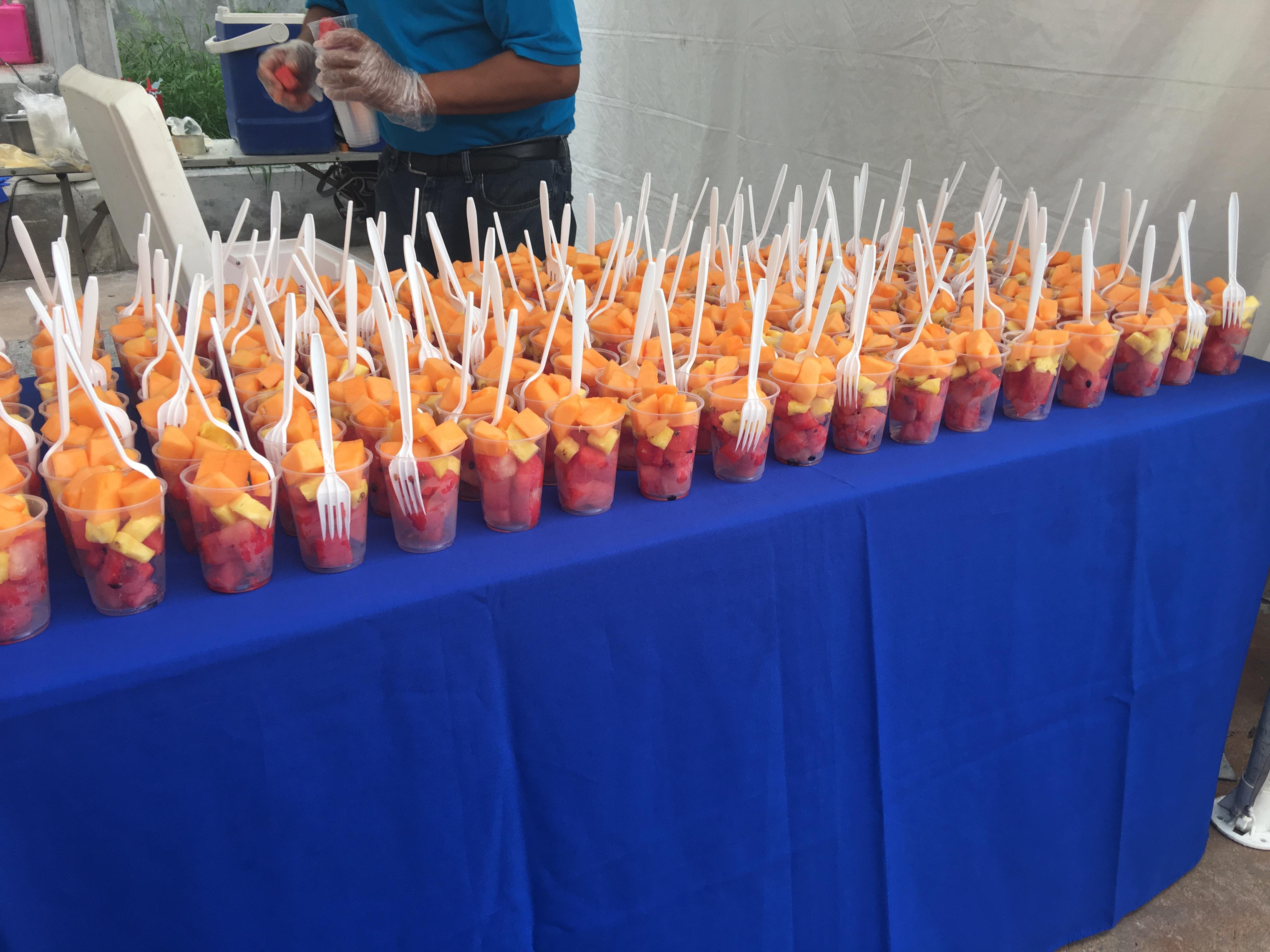 Vasos de frutas